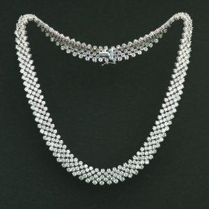 50ct弱 ホワイトゴールドダイヤモンドネックレス(ダイヤモンド48.87ct K18WG)