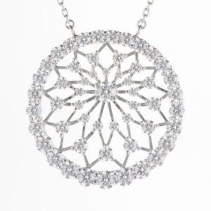 6ct ダイヤモンド プラチナ製ペンダント D:6.18ct Pt950/850