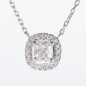 1.01ct Hカラー VS1 ダイヤモンドペンダント プラチナ950/850製