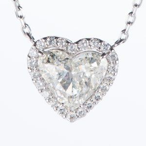 1.99ct Jカラー SI2 ダイヤモンドペンダント プラチナ900/850製