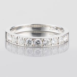 3mm 0.5ct ダイヤモンド マリッジリング プラチナ製